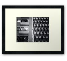 Streetscape in Santiago, Chile Framed Print