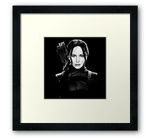 katniss everdeen beutiful woman Framed Print