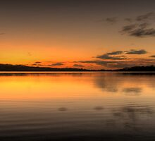 Liquid Gold - Narrabeen Lakes, Sydney (Panoramic) - The HDR Experience by Philip Johnson
