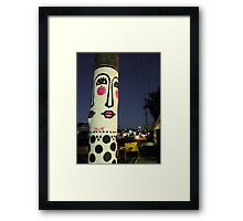Face painted telephone pole Framed Print