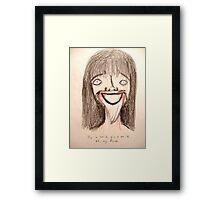 Pin a Smile Framed Print