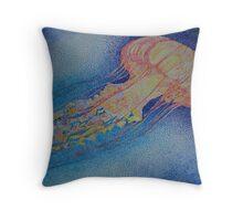 Pointillist Jellyfish Throw Pillow