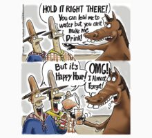 Happy Hour Horse - A Western Hero by 13thfloorcomic