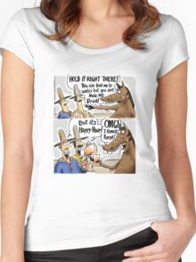 Happy Hour Horse - A Western Hero Women's Fitted Scoop T-Shirt