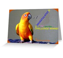 CONGRATULATIONS - Challenge winner - Pets Are Us Greeting Card