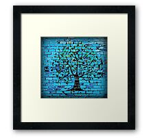 Tree On The Wall Framed Print