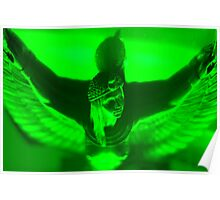 Green greek goddess Poster