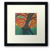 Psychedelic Tree Framed Print