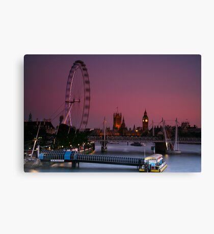 """London's Lights"" Canvas Print"