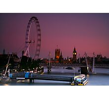 """London's Lights"" Photographic Print"