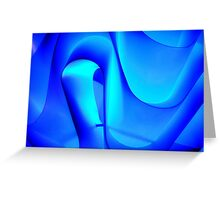 Electric blue motion and light Greeting Card