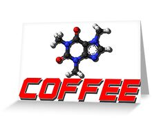 Chemistry -  Red Coffee Greeting Card