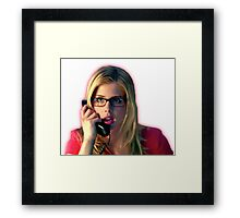 Felicity Smoak | Surprised on the phone | Arrow Season 3 Framed Print