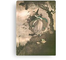 Grimm's fairy-tale witch Canvas Print