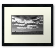 Walking up that hill Framed Print