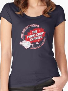 Jack Burton Trucking Pork Chop Express Women's Fitted Scoop T-Shirt