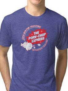 Jack Burton Trucking Pork Chop Express Tri-blend T-Shirt