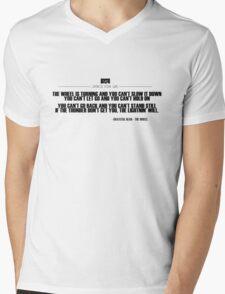 Grateful Dead Lyric - The Wheel Mens V-Neck T-Shirt