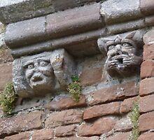 Brougham Castle Gargoyles by Kiriel