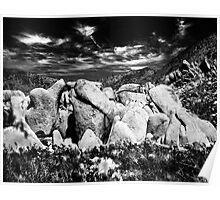 Hight desert rocks Poster