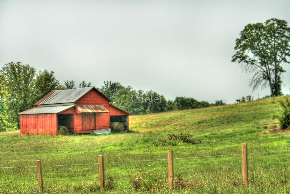 Another Red Barn by Chelei
