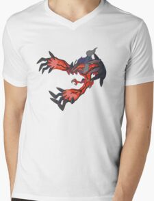 red dragon t shirt Mens V-Neck T-Shirt