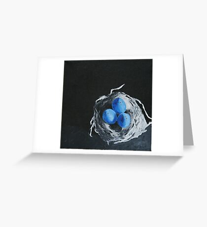 Blue Bird Eggs Greeting Card
