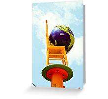 Chair Art China Town 2 Greeting Card