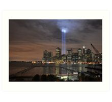 Downtown Manhattan - 9-11-2009 Art Print