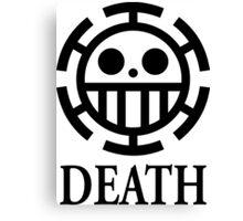 Trafalgar Law Death Canvas Print