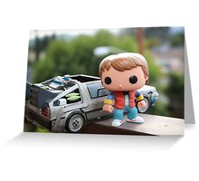 Marty Mcfly Delorean Greeting Card