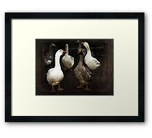 'Singing for their Supper' Framed Print