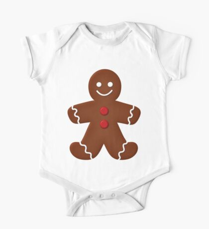 Gingerbread Man  One Piece - Short Sleeve