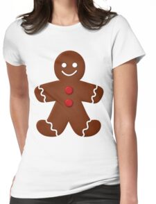 Gingerbread Man  Womens Fitted T-Shirt