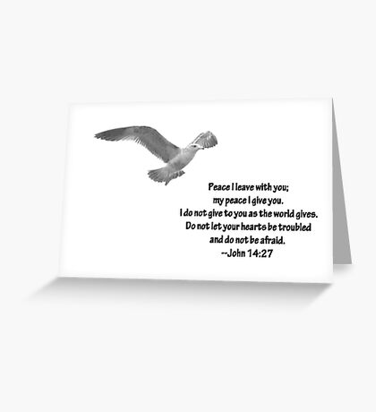 Seagull with John 14:27 Verse Greeting Card