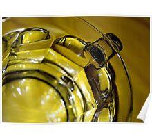 Clear Mug. Yellow Tablecloth  Poster