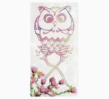 Rosey Awareness Owl One Piece - Short Sleeve