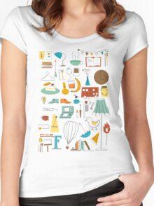 Cozy T-shirt femme moulant à col profond