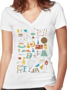 Cozy T-shirt femme moulant col V