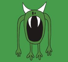 Big Mouth Green Monster  Baby Tee