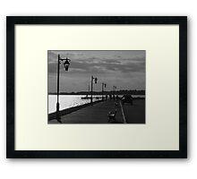 Street Silhouettes Framed Print