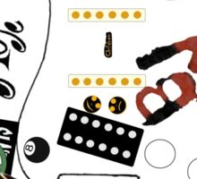 "Billie Joe Armstrong ""Blue"" Guitar - Any Colour  Sticker"
