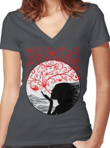 Breath of Beauty Women's Fitted V-Neck T-Shirt