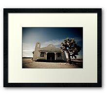 Mojave Desert Church Framed Print