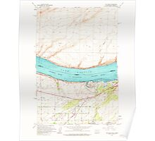USGS Topo Map Washington Hat Rock 241500 1962 24000 Poster