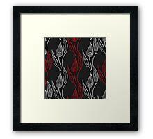 Spathiphyllum pattern Framed Print