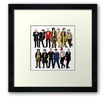 Doctor Who - Alternate Costumes 13 Doctors Framed Print