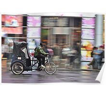 A Tricycle In NYC Poster