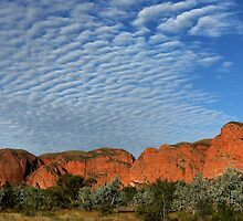 Rippled clouds over the Kimberley by Tim Coleman