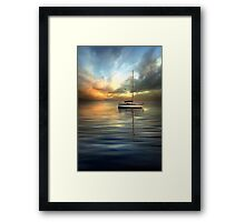 Dramatic Evening Framed Print